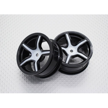Set jante 5 spite culoare neagru/argintiu 1/10 Touring/Drift 2buc