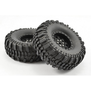 "Set roti crawler Fastrax ROCKO 1.9"" 110mm super-soft, jante negre"