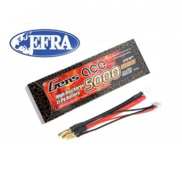 Acumulator LiPo Gens ace 5000mAh 7.4V 50C aprobat EFRA/ROAR