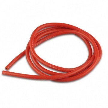 Cablu electric cu invelis siliconic pur, Rosu - 12 AWG, 1m lungime