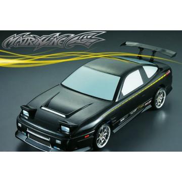 Caroserie automodele 1/10 drift si touring, model Nissan 180 Matrixline, cu Accesorii - 190mm