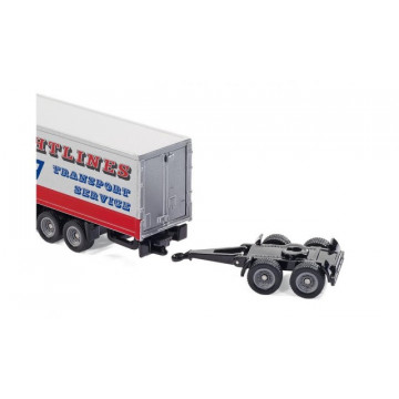 Macheta Camion TIR cu doua trailere, SIKU, scara 1:87
