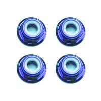 Set piulite roti M3 Fastrax, cu flansa si autoblocare, albastre