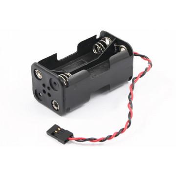 Suport receptie baterii 4xAA Etronix, pentru automodele nitro, cu conector futaba