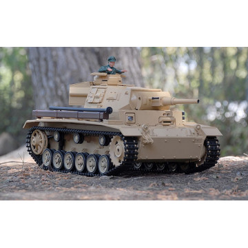 Tanc RC Heng Long 1/16 TauchPanzer III Ausf.H  Light Tank cu Fum
