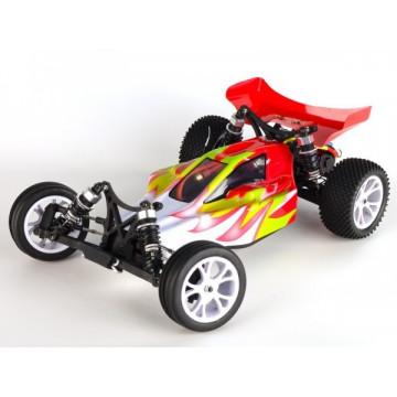 VRX Racing Bullet Buggy 2WD RTR, scara 1/10, culoare rosie
