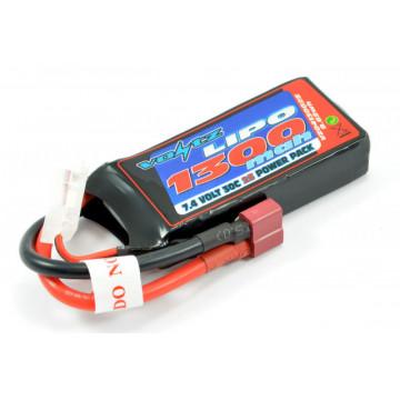 Acumulator Lipo 2s 1300 mAh 30C softcase Voltz, conector Deans