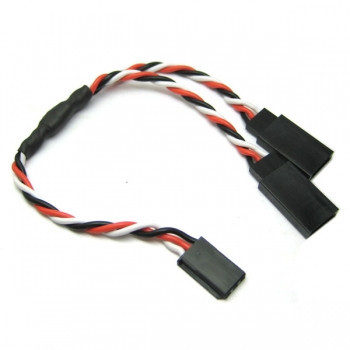 Cablu prelungire servo/semnal in Y, 30cm cu mufa tip Futaba 22 AWG