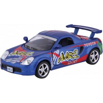 Macheta diecast Toyota MR2 seria Street Racers, scara 1:37 Kinsmart