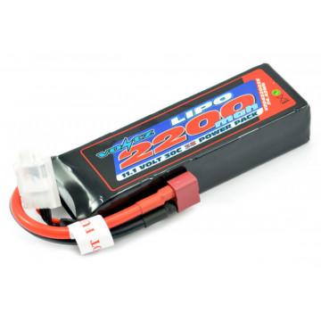 Acumulator Lipo 3s 11.1V 2200 mAh 30C softcase Voltz, conector Deans