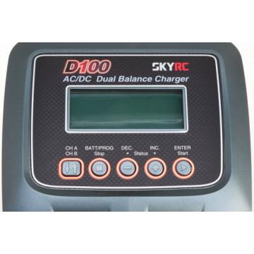 Incarcator Profesional Universal SkyRC D100AC/DC cu doua porturi , 100W