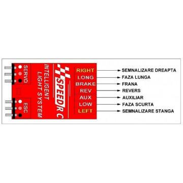 Modul inteligent de lumini pentru automodele radiocomandate Speed Rc T1