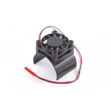 Radiator aluminiu cu ventilator pentru motoare electrice (ventilatorul deasupra)