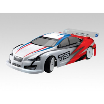 Automodel electric Thunder Tiger TS2e EP Touring Brushed 2WD RTR 2.4Ghz, scara 1/10, culoare rosie