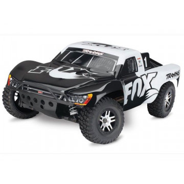 Automodel Traxxas Slash 4x4 VXL-3 Brushless FOX cu sunet realistic OBA & TSM®