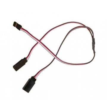 Cablu extensie servo in Y cu conectori Futaba,  20cm