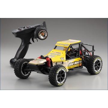 Kyosho 1/10 2WD EZ Sand Master Buggy RTR, culoare galbena