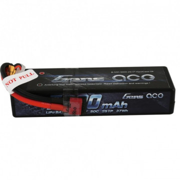 Acumulator Automodele Gens ace 5000mAh 7.4V 50C 2S1P Hard Case Lipo