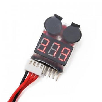 Detector  voltaj scazut acumulatori LiPo (Buzzer Lipo) (2s~6s)