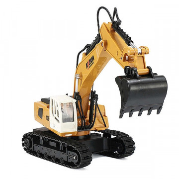 Excavator cu telecomanda Huina, scara 1/18 2.4Ghz RTR -9 Functii