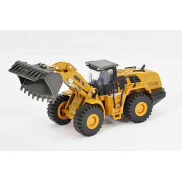 Macheta Tractor incarcator frontal diecast Huina, scara 1/50