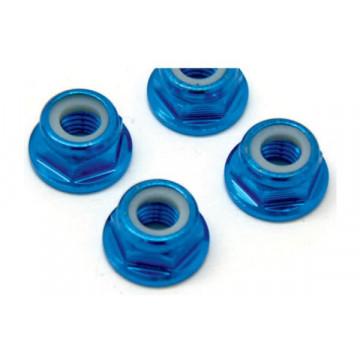 Set piulite roti tip M5 Fastrax din aluminiu, cu flansa si autoblocare