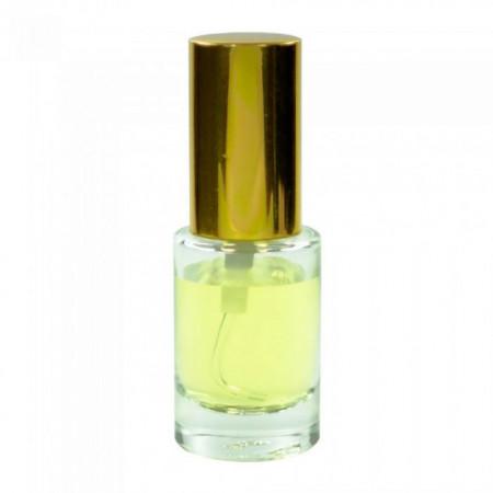 Sticluta cu pulverizator si capac metal gold ptr. parfum - Minerva Slim 12 ml