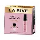 Set cadou La Rive She is mine, parfum si deodorant