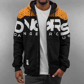 Dangerous DNGRS Big Logo Zip Hoody Jet Black/Rubber