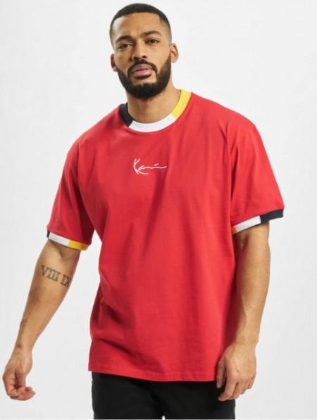 Karl Kani T-shirt Signature Ringer Tee red/navy/grey/yellow