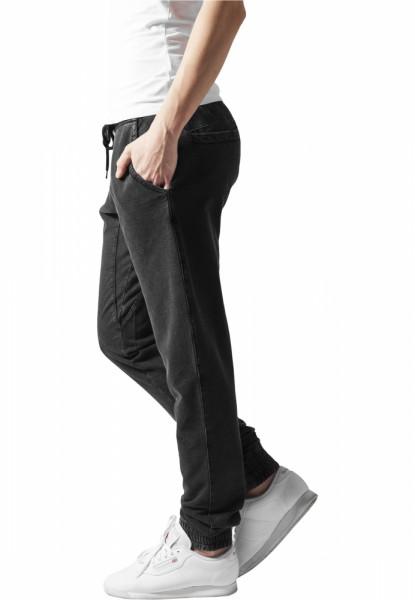 Ladies Acid Wash Jogging Pants