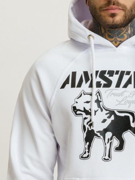 Amstaff Logo 2.0 Hoodie - white/black S