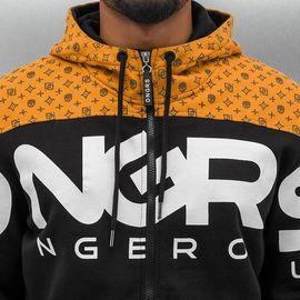 Dangerous DNGRS Big Logo Zip Hoody Jet Black/Rubber
