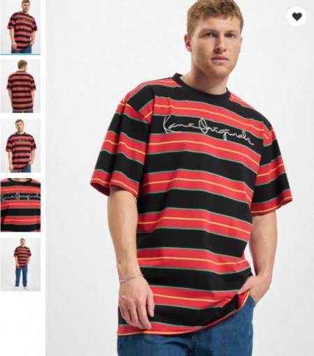 Karl Kani Men T-Shirt Originals Stripe in red