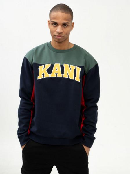 Karl Kani Sweatshirt College Block Crew navy/green/red/yellow/white