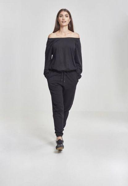 Ladies Cold Shoulder Terry Jumpsuit