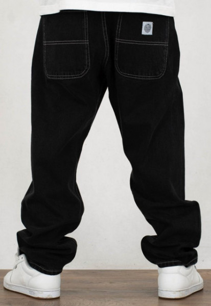 Mass Denim Jeans Craft Baggy Fit black rinse
