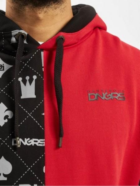 Dangerous DNGRS Half Crown & King Hoody Black/Red