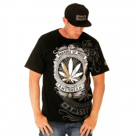 BSAT Silver Weed Tee Black/White/Silver/Grey