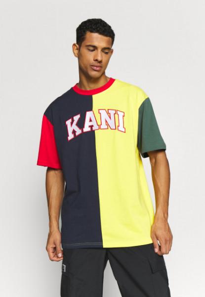 Karl Kani T-shirt College Block Tee navy/yellow/red/green/white