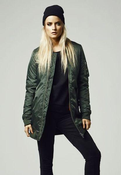 Ladies Long Bomber Jacket