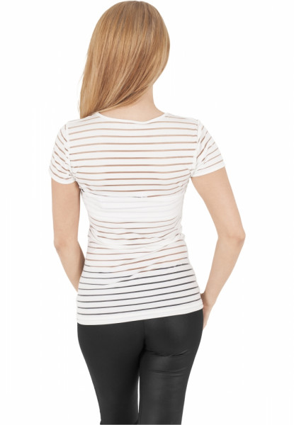 Ladies Semi Transparent Scuba Tee