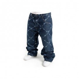2-PAC ALLOVER DENIM DARK BLUE