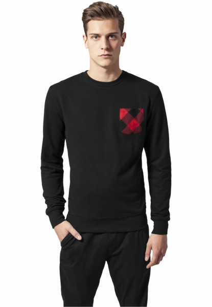 Contrast Pocket Crewneck