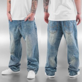 Dangerous DNGRS Jeans / Baggy Stitch in blue*