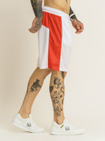 Amstaff Durin Meshshorts - white/red