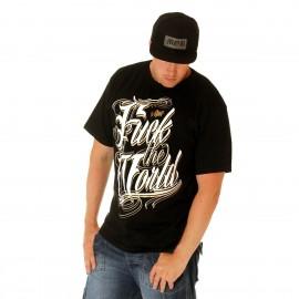 BSAT Fuck The World Tee Black/White/Gold