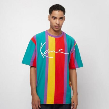 Karl Kani T-shirt Faded Stripe Signature Tee purple/red/yellow