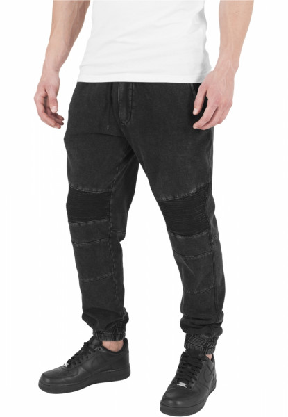 Fitted Acid Washed Biker Sweatpants