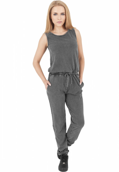 Ladies Denim Jersey Sleeveless Jumpsuit